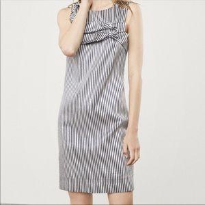 Banana Republic Bow Striped Dress S 2 ::A11